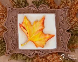 Antique Maple Leaf Cookie Frame - Cake by Bobbie