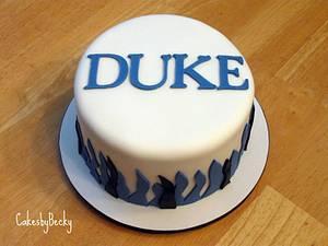 Duke Blue Devils Blue Velvet Cake - Cake by Becky Pendergraft