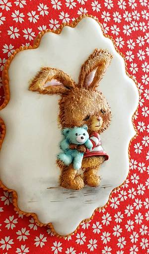 Not an usual Easter Bunny..... - Cake by The Cookie Lab  by Marta Torres