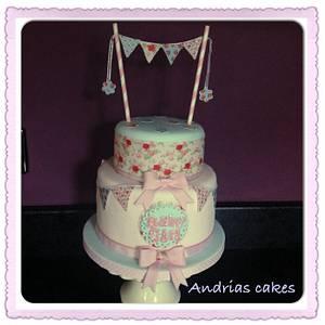 Baby shower cake  - Cake by Andrias cakes scarborough