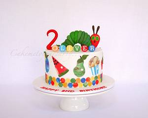 The Very Hungry Caterpillar cake and cookies! - Cake by Leah Jeffery- Cake Me To Your Party