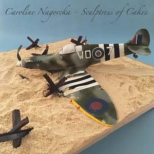 D-day Spitfire Cake - Cake by Caroline Nagorcka