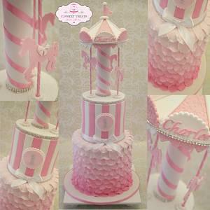 Carousel cake - Cake by cjsweettreats