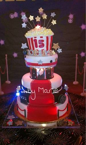 Hollywood quinceañera cake - Cake by Marie