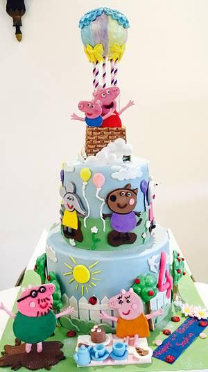 Peppa pig  - Cake by Tiers of joy