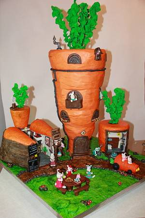 The carrot´s house cake - Cake by SORELLAS CAKES PAMPLONA
