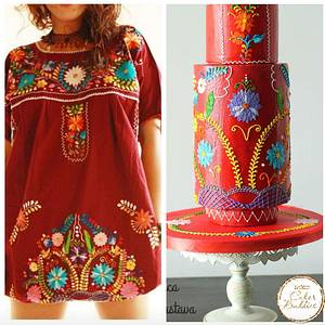 Cakerbuddies-Royal Wedding inspired,Buttercream special  -Flora Bordado  - Cake by Monika Srivastava
