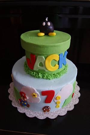 Super Mario Bros. cake - Cake by littlejo