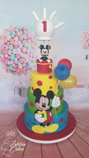 Mickey and ballons - Cake by Zaklina