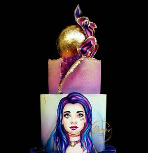 Ametist Girl - Cake by Mariya's Cakes & Art