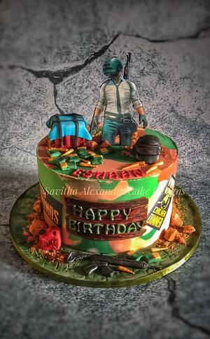 Gamer theme cake  - Cake by Savitha Alexander