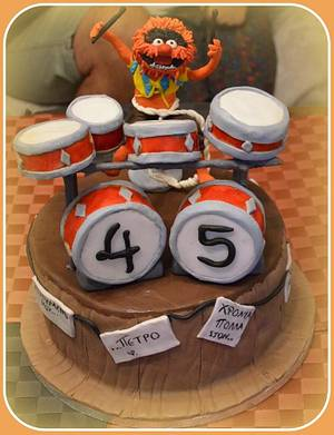 Animal muppets cake - Cake by Konstantina - K & D's Sweet Creations