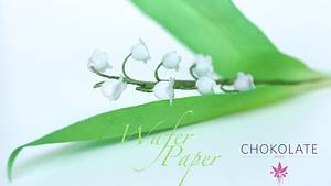 Wafer Paper Floral Art - Lily of the Valley - brin de Muguet - Cake by ChokoLate