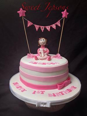 Rebecca's first birthday  - Cake by Kazza