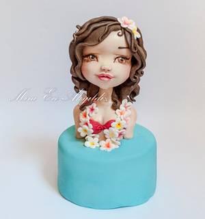 Aloha girl - Cake by Caking with love