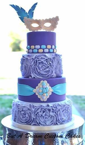 Masquered themed Quinceanera cake - Cake by Elisabeth Palatiello
