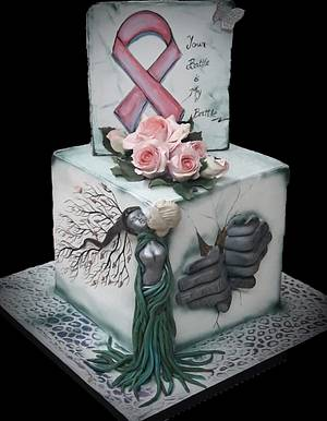 Kiss Of Life - World Cancer Day 2019 Collaboration & Sugarflowers and Cakes in Bloom. - Cake by Anu
