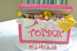 pink toy box cake for girls - Cake by Sheela