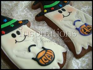 Inspiration's Spooky cookies Chocolate Ghost - Cake by Inspiration by Carmen Urbano