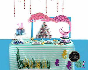 PDCA Caker Buddies Collaboration - Mermaid Theme Dessert Table  - Cake by sheingscakemeaway