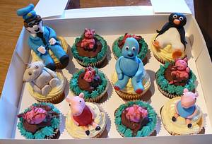 Toddler character cupcakes - Cake by Krazy Kupcakes