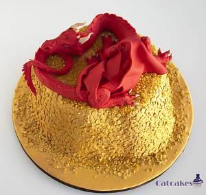Smaug cake - Cake by Catcakes