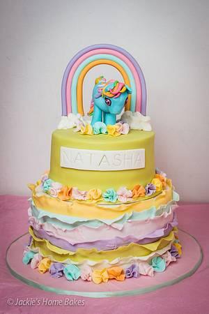 Rainbow and Ruffles Rainbow Dash Cake - Cake by JackiesHomeBakes