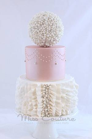 Ruffles and Pearls Du Jour - Cake by misscouture