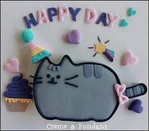 Pusheen the cat cake - Cake by Creme & Fondant