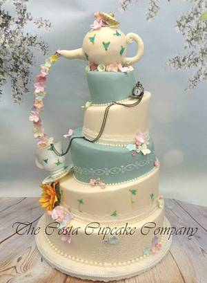 Teapot wedding Cake - Cake by Costa Cupcake Company