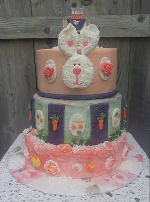 """HAPPY 🐰🐰 BLESSED 🐥🐥 EASTER - Cake by June (""""Clarky's Cakes"""")"""