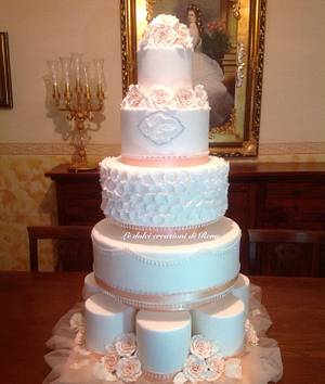 Shiny bridal cake with roses - Cake by Le dolci creazioni di Rena