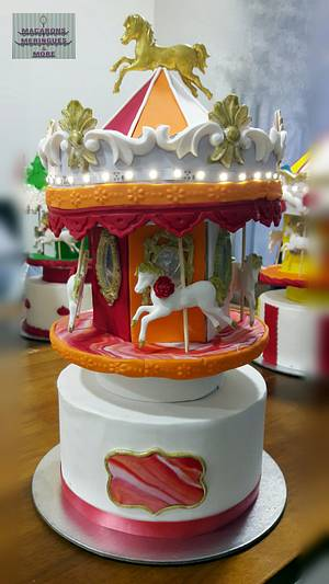 Carousel Cake  - Cake by RupalsCakes (MACARONS MERINGUES &MORE )