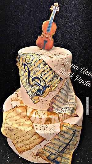 Violin Cake - Cake by Sema Uzun Butik Pasta