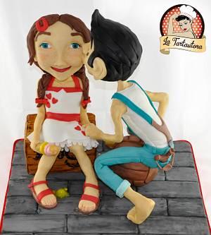 First Summer Love <3 - Cake by La Tartautora