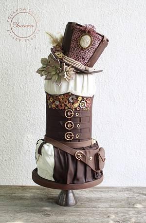 Steampunk Cake - Cake by Yolanda Cueto - Yocuna Floral Artist