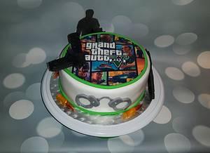 GTA 5 cake. - Cake by Pluympjescake