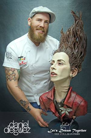 """Princess without Voice"" for Let's Dream Together Collaboration - Cake by Daniel Diéguez"