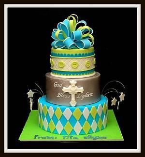 Christening Cake - Cake by Marjorie