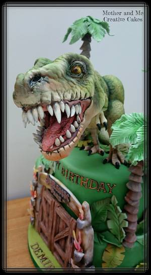 Jurassic Cake - Cake by Mother and Me Creative Cakes