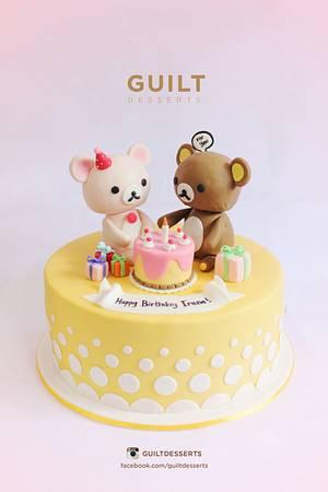 Rilakkuma - Cake by Guilt Desserts