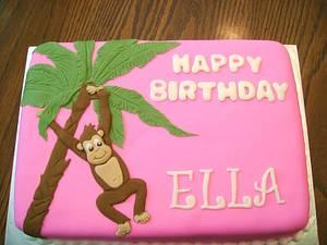 Climbing Monkey - Cake by Theresa