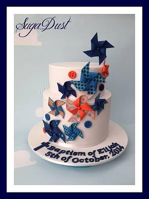 Happy Pinwheels - Cake by Mary @ SugaDust