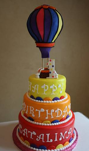 Hot Air Balloon Cake - Cake by Pam and Nina's Crafty Cakes