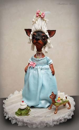 Madame Terrier. 3D dog cake. - Cake by Galina Maslikhina