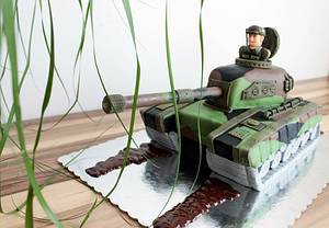 Army tank cake - Cake by Judit