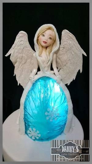 Winter blue angel - Cake by daniela cabrera