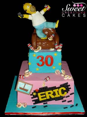 Homer Simpson cake - Cake by Sweet Creations Cakes