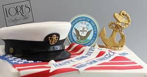 Navy Chiefs 124th Birthday  - Cake by Lori Mahoney (Lori's Custom Cakes)