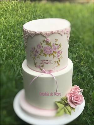 Rosas modeladas y pintadas a mano  - Cake by Griselda de Pedro